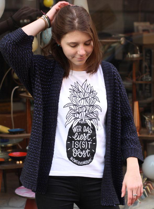 #zweiraumsilke – Ananas-Shirt – Mädels